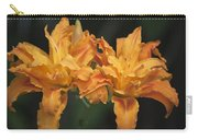 Orange Kwanso Daylily Pair Carry-all Pouch