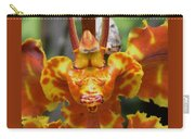 Orange Orchid Clown Carry-all Pouch
