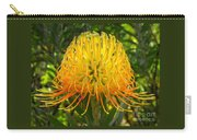 Orange Protea Flower Art Carry-all Pouch by Rebecca Margraf