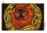 Orange Ranunculus With A Chrome Effect Carry-all Pouch