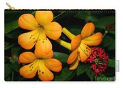 Orange Rhododendron Flowers Carry-all Pouch
