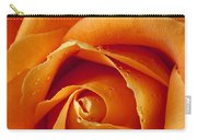 Orange Rose Close Up Carry-all Pouch by Garry Gay