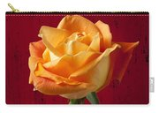 Orange Rose In Red Pitcher Carry-all Pouch