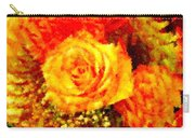 Orange Rose Swirl Carry-all Pouch