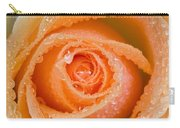 Orange Rose With Dew Carry-all Pouch