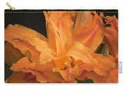 Orange Ruffles Carry-all Pouch