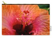 Orange Sherbert Hibiscus Carry-all Pouch