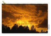 Orange Stormy Skies Carry-all Pouch