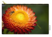 Orange Straw Flower With Guest Carry-all Pouch