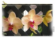 Orange Striped Orchids Carry-all Pouch