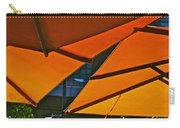 Orange Umbrella Abstract Carry-all Pouch