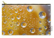 Orange Water Drops Carry-all Pouch