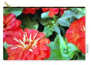 Orange Zinnias Carry-all Pouch
