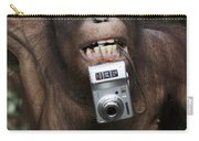 Orangutan With Tourists Camera Carry-all Pouch
