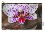 Orchid On Stack Of Rocks Carry-all Pouch