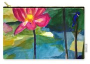 Orchid With Blue Bird Carry-all Pouch