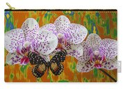 Orchids With Speckled Butterfly Carry-all Pouch