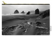 Oregon Coast Black And White Carry-all Pouch