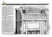 Organ Ad, 1870 Carry-all Pouch