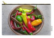 Organic Colorful Peppers Carry-all Pouch