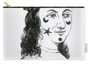 Ornamental Patches On Face, 17th Century Carry-all Pouch