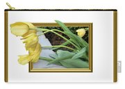 Out Of Frame Yellow Tulips Carry-all Pouch