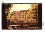 Outdoor Cafe In Lucerne Switzerland  Carry-all Pouch by Susanne Van Hulst