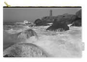Overflooding Black And White Carry-all Pouch
