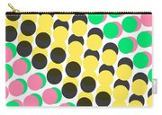 Overlayed Dots Carry-all Pouch by Louisa Knight