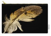 Owl Feather With Water Carry-all Pouch