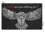 Owl In Flight Carry-all Pouch