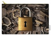 Padlock Over Keys Carry-all Pouch by Carlos Caetano