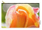 Paint Daub Yellow Rose Carry-all Pouch