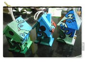 Painted Birdhouses Carry-all Pouch