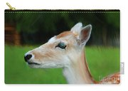 Painted Deer Carry-all Pouch by Mariola Bitner
