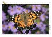 Painted Lady Among The Asters Carry-all Pouch