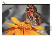 Painted Lady Butterfly On Zinnia Carry-all Pouch