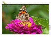 Painted Lady With Zinnia Carry-all Pouch