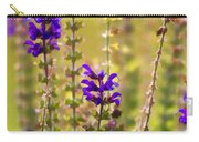 Painted Purple Sage Salvia Carry-all Pouch