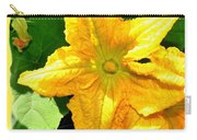 Painted Squash Blossoms Carry-all Pouch