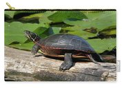 Painted Turtle On Log Carry-all Pouch