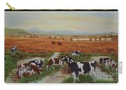 Painting Cows On Cors Caron Tregaron Carry-all Pouch