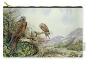 Pair Of Red Kites In An Oak Tree Carry-all Pouch by Carl Donner