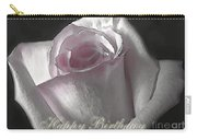Pale Pink Rose Greeting Card.   Birthday Carry-all Pouch