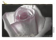 Pale Pink Rose Greeting Card   I Love You Carry-all Pouch