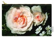 Pale Pink Roses In Garden Carry-all Pouch