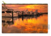 Palm Beach Harbor Glow Carry-all Pouch by Debra and Dave Vanderlaan