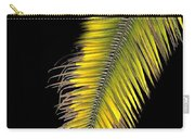 Palm Frond Against Black Carry-all Pouch