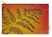 Palm Frond In The Summer Heat Carry-all Pouch by Kaye Menner