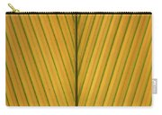 Palm Leaf Showing Midrib And Veination Carry-all Pouch